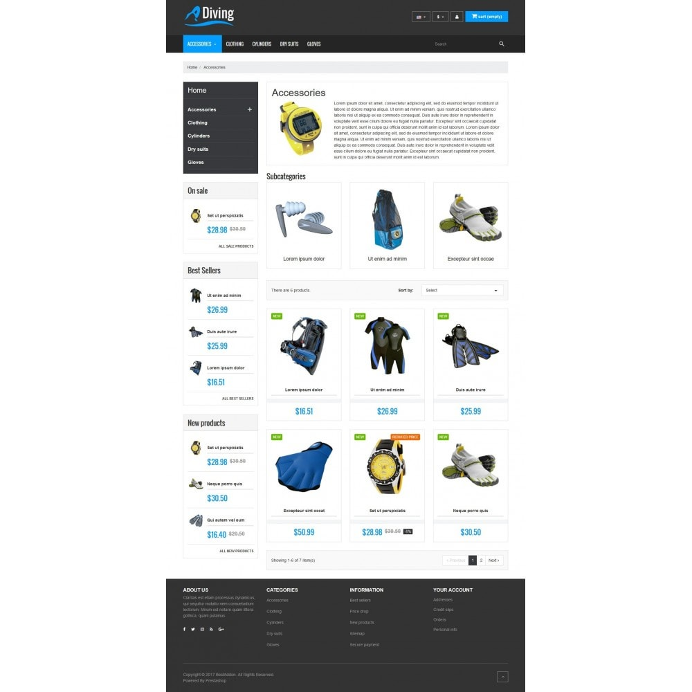 theme - Sport, Loisirs & Voyage - VP_Diving Store - 3