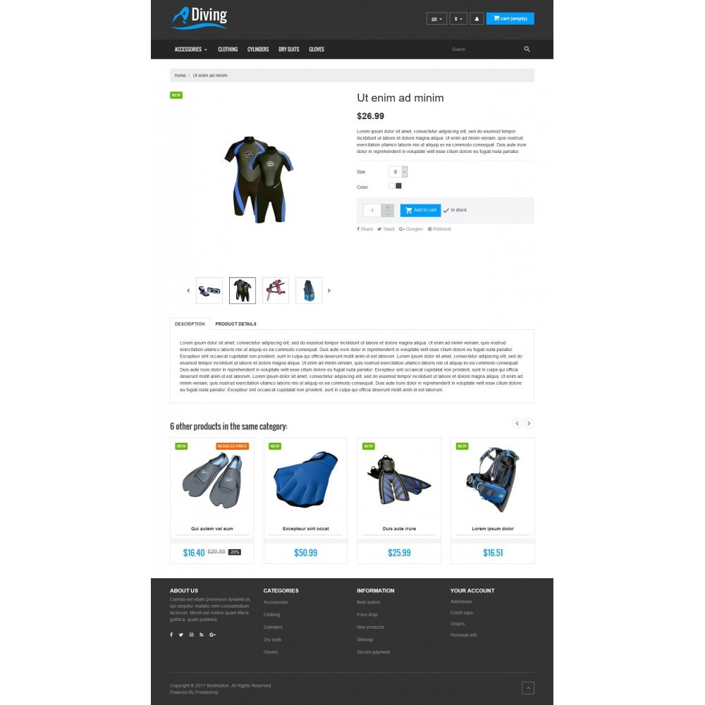 theme - Sport, Loisirs & Voyage - VP_Diving Store - 4