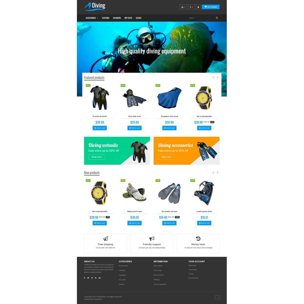 theme - Sport, Loisirs & Voyage - VP_Diving Store - 2