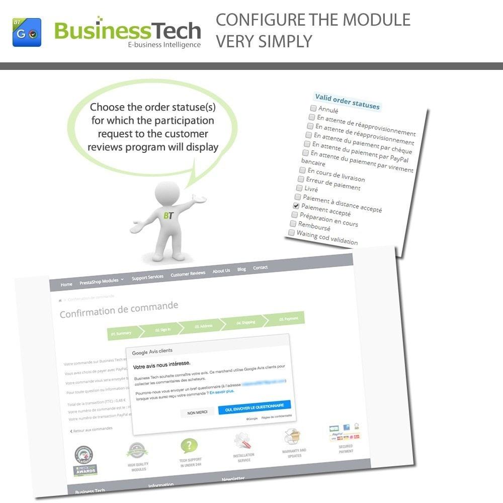 module - Programmi fedeltà & Affiliazione - Google Customer Reviews - 4
