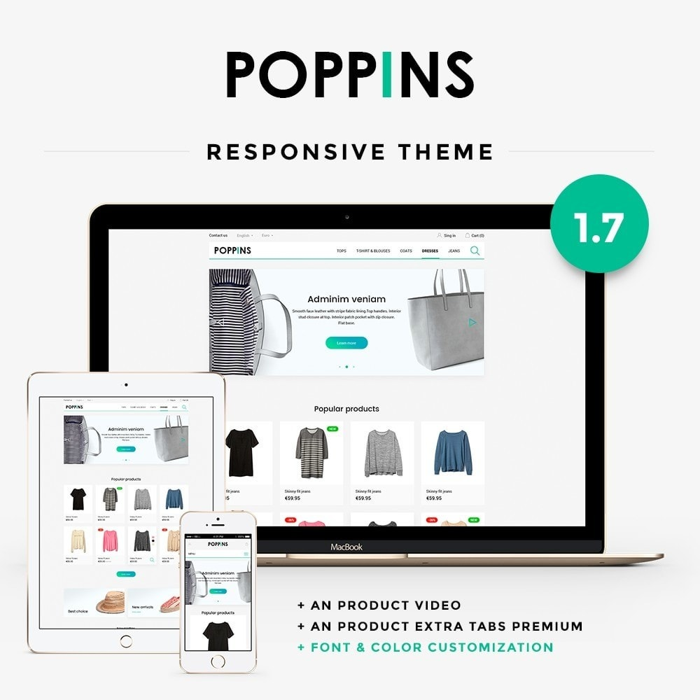 theme - Mode & Chaussures - Poppins Fashion Store - 1