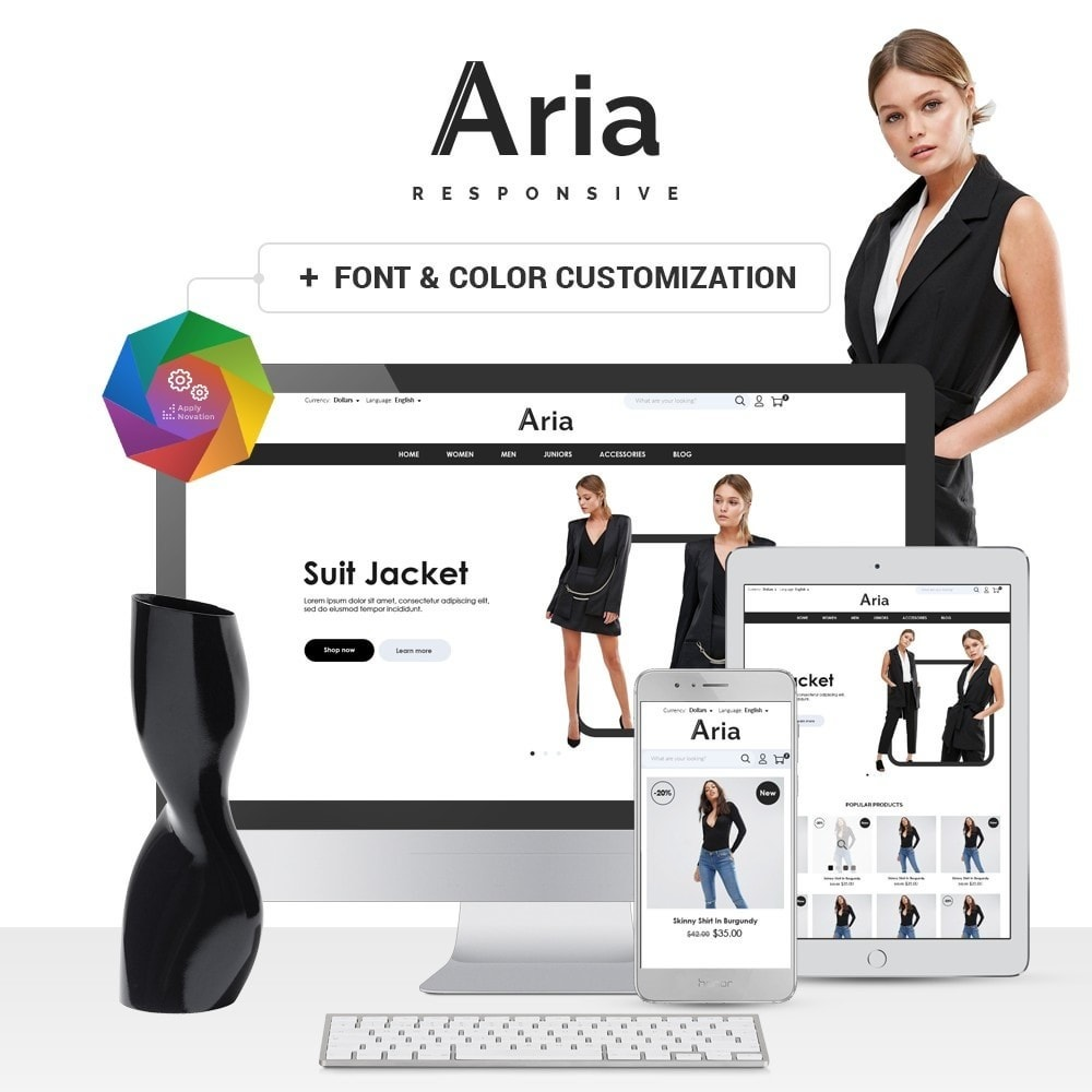theme - Мода и обувь - Aria Fashion Store - 1