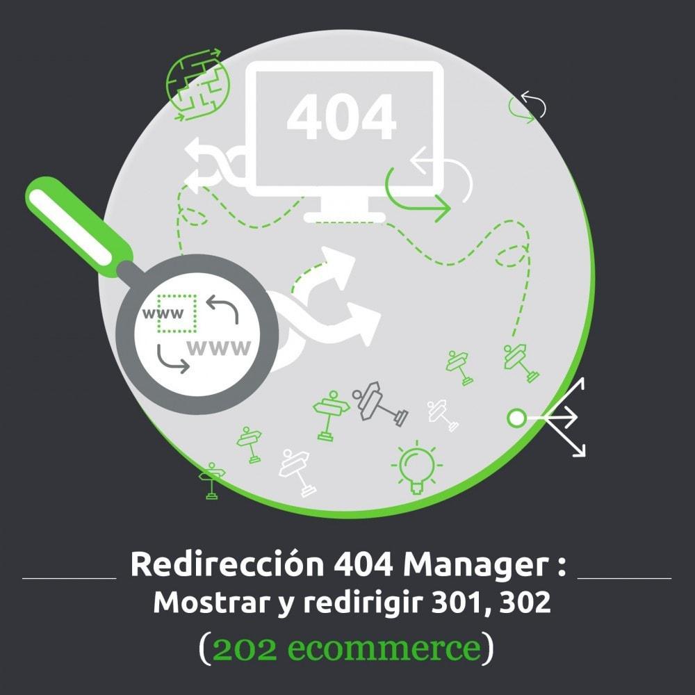 module - URL y Redirecciones - Redirección 404 Manager : Mostrar y redirigir 301,302 - 1