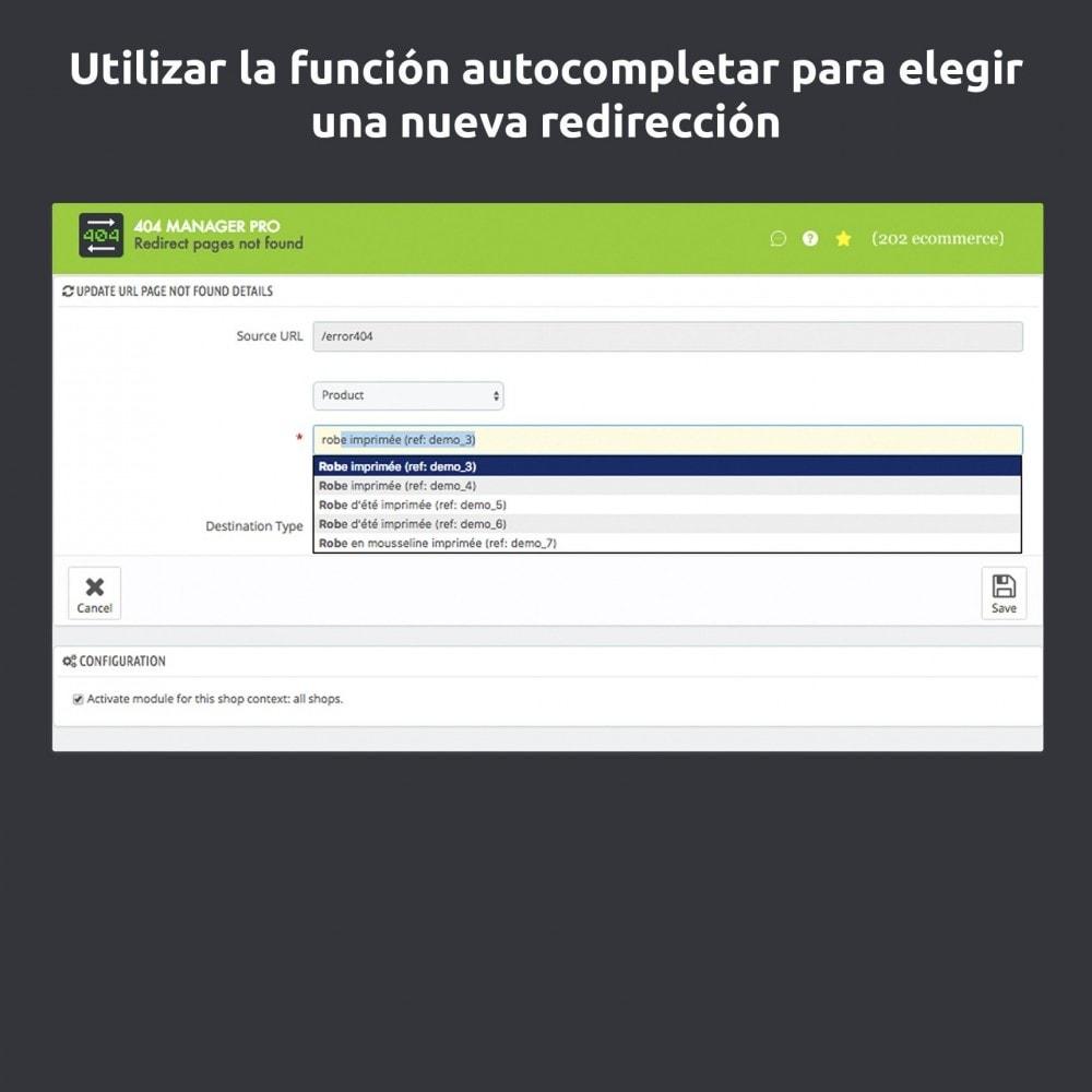 module - URL y Redirecciones - Redirección 404 Manager : Mostrar y redirigir 301,302 - 4