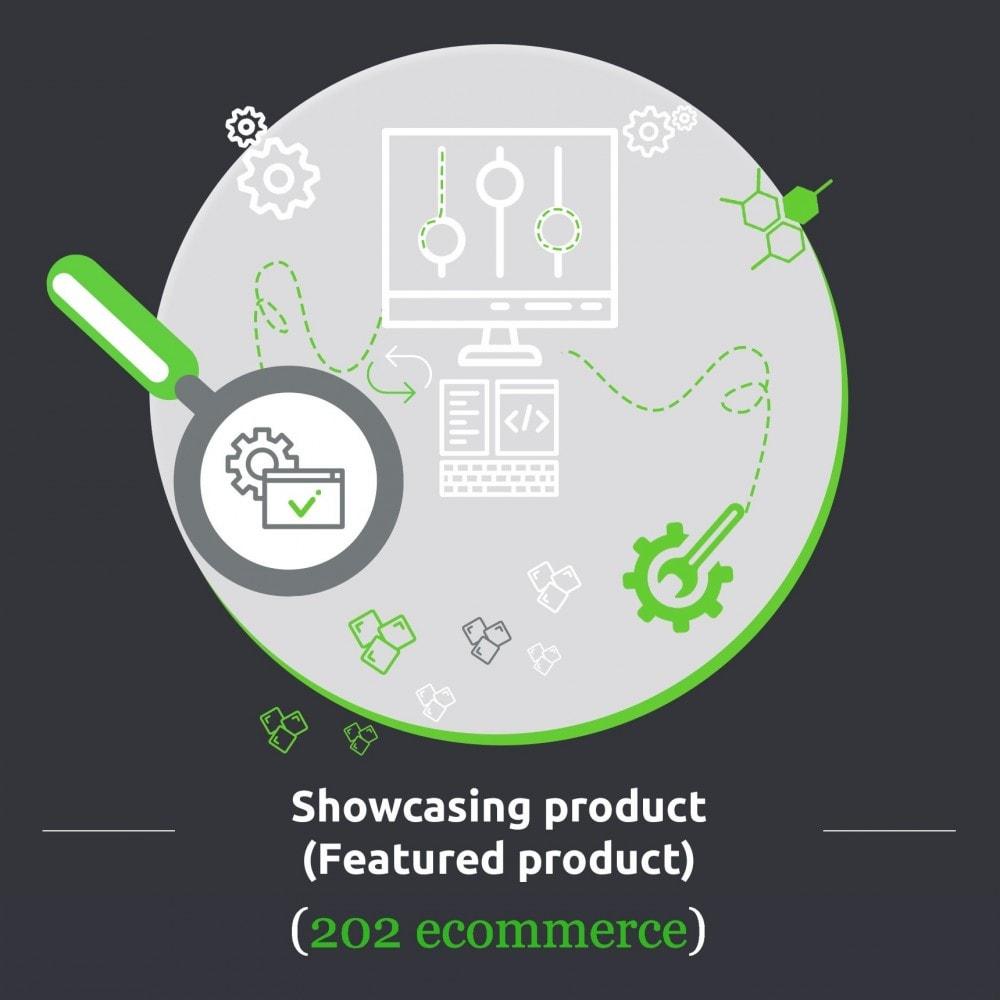 module - Zarządzanie produktami na stronie głównej - Showcasing product (Featured product) - 1