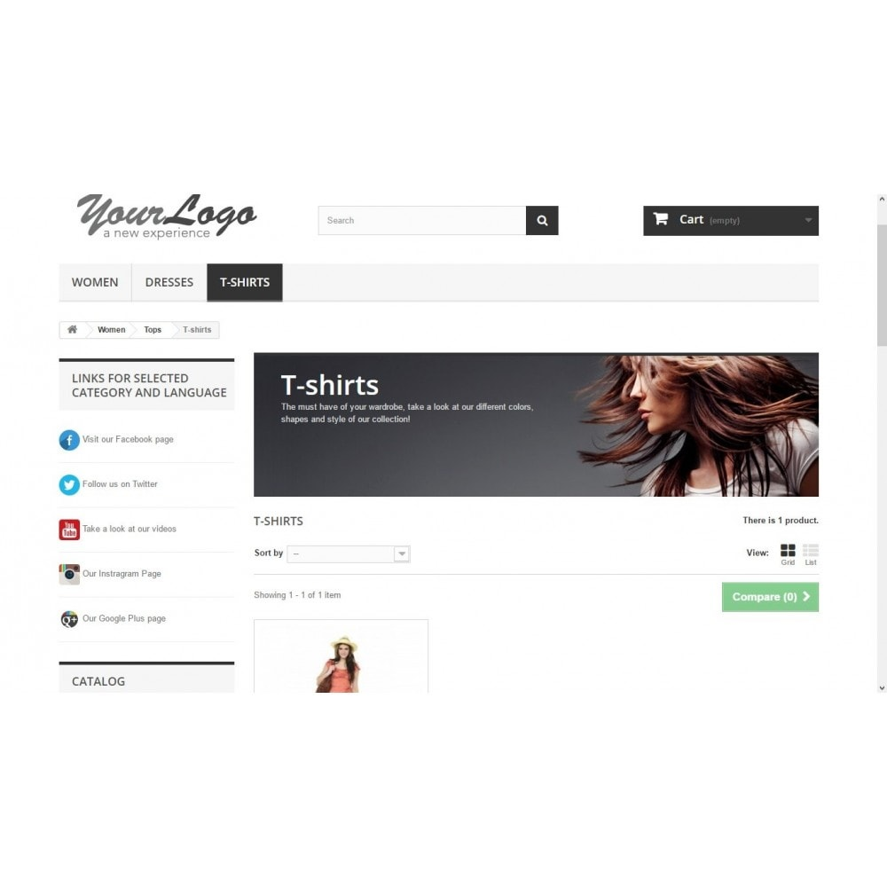 module - Social Widgets - Links block on selected pages - 1