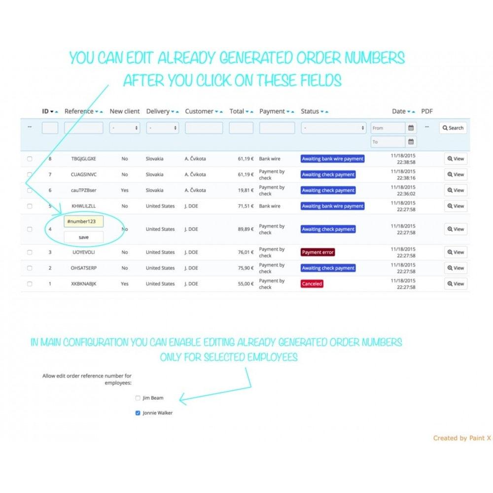module - Gestión de Pedidos - Número de pedido personalizado y su configuración - 2