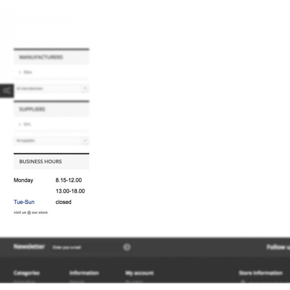 module - Punto de entrega y Recogida en tienda - Store Business Hours - 3