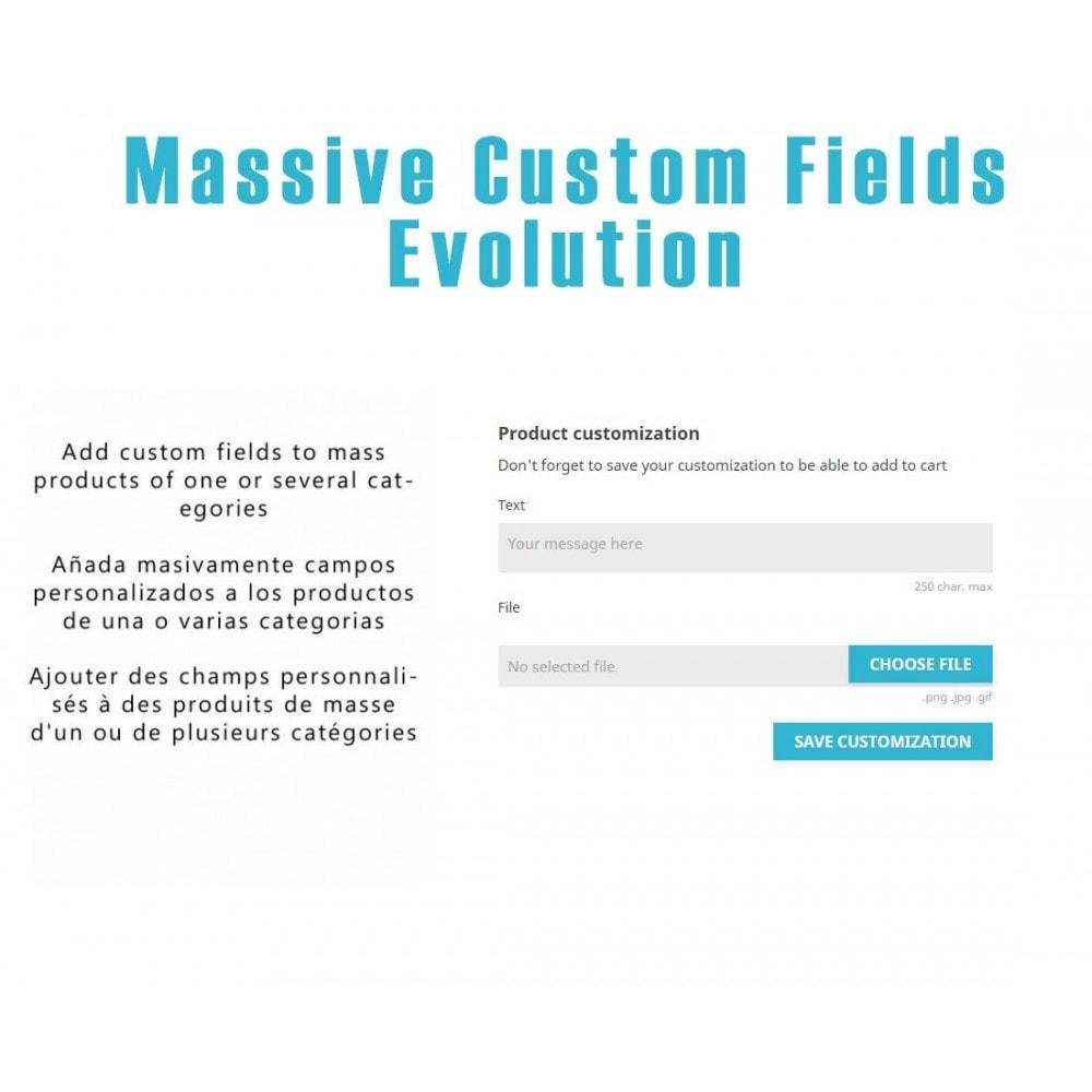 module - Déclinaisons & Personnalisation de produits - Massive Custom Fields Evolution - 1