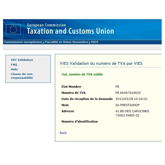 module - Customer Administration - EU VAT and client group - 4