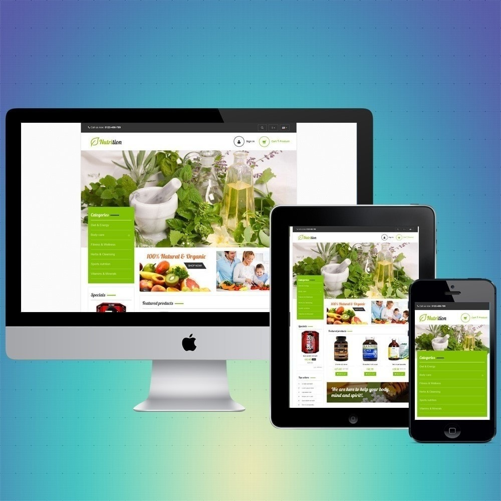 theme - Gesundheit & Schönheit - VP_Nutrition Store - 1