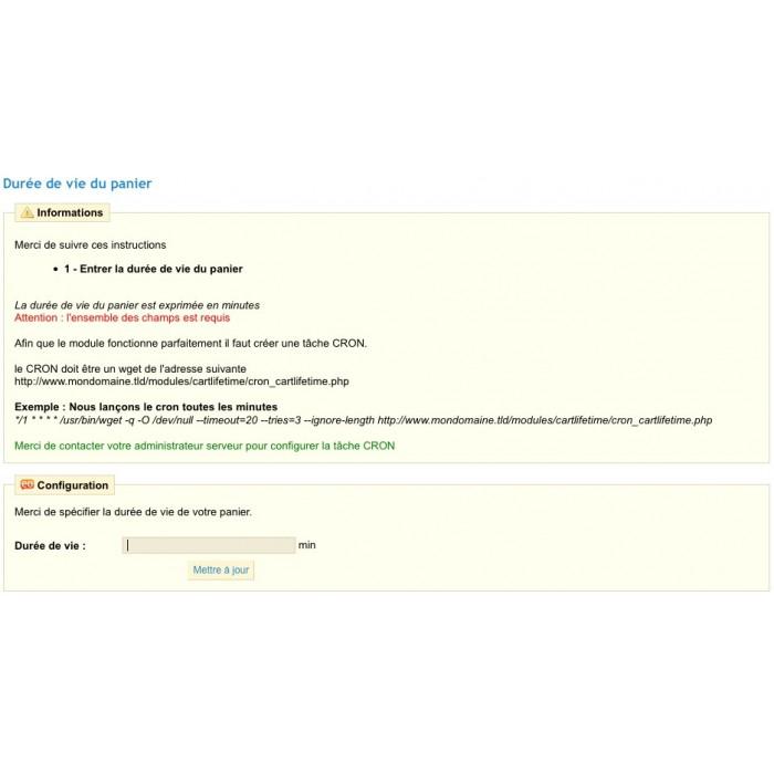 module - Registration & Ordering Process - Cart lifeTime - 1