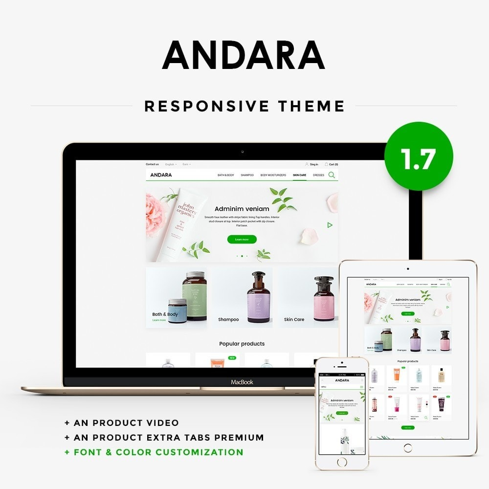 theme - Health & Beauty - Andara Cosmetics - 1