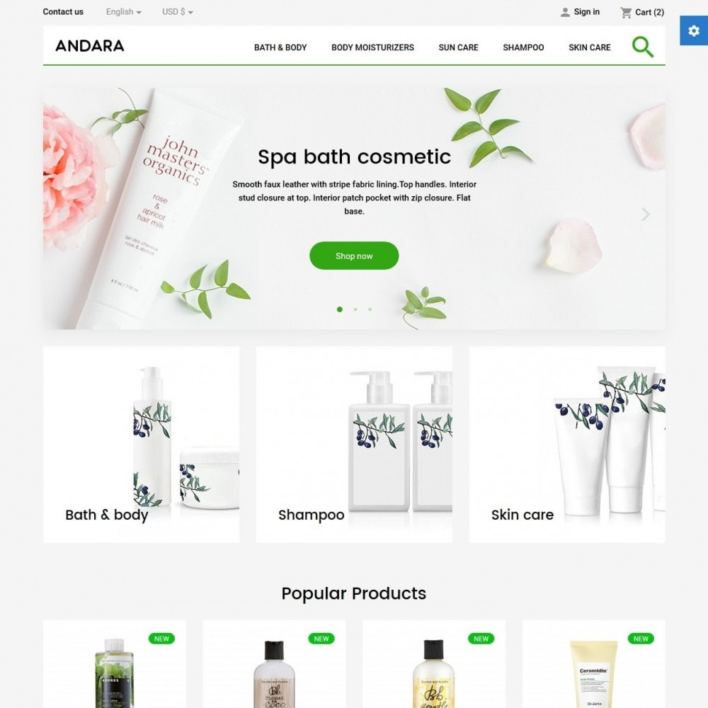 theme - Health & Beauty - Andara Cosmetics - 2