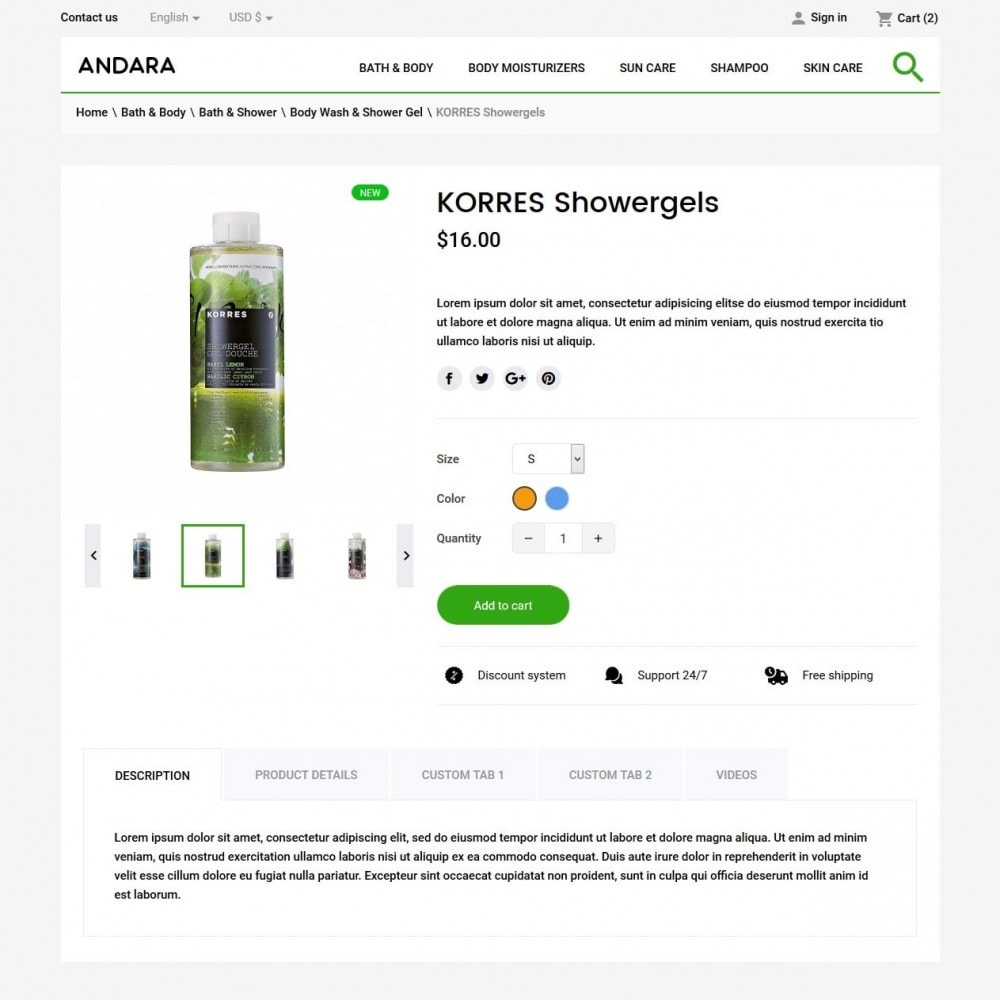 theme - Health & Beauty - Andara Cosmetics - 7