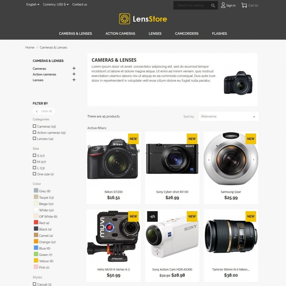 theme - Elettronica & High Tech - LensStore - 5