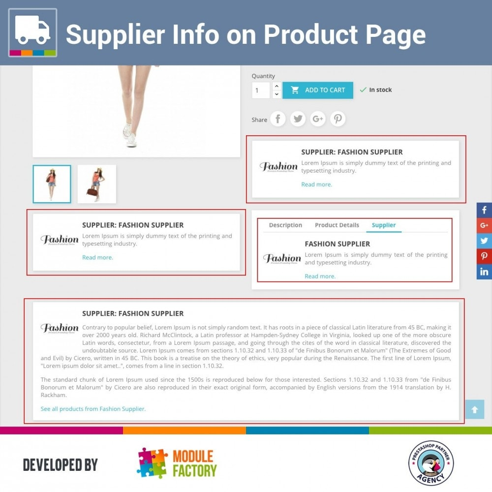 module - Zusatzinformationen & Produkt-Tabs - Supplier Info on Product Page - 1
