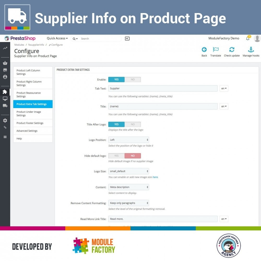 module - Zusatzinformationen & Produkt-Tabs - Supplier Info on Product Page - 3