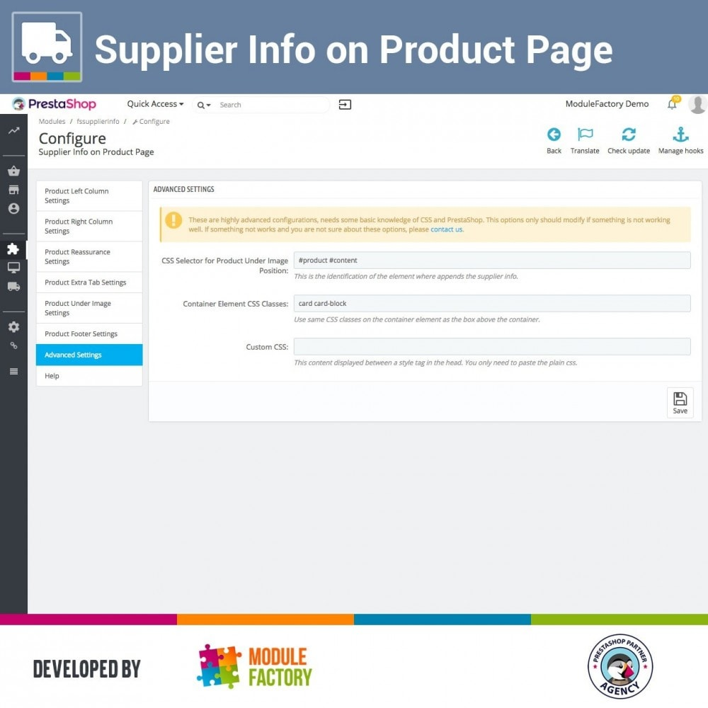 module - Zusatzinformationen & Produkt-Tabs - Supplier Info on Product Page - 4