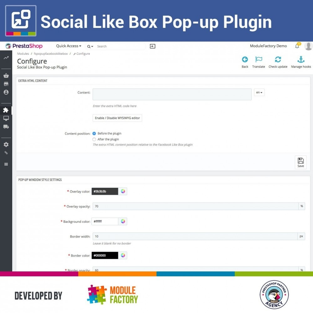 module - Pulsanti di condivisione & Commenti - Social Like Box Pop-up Plugin - 5