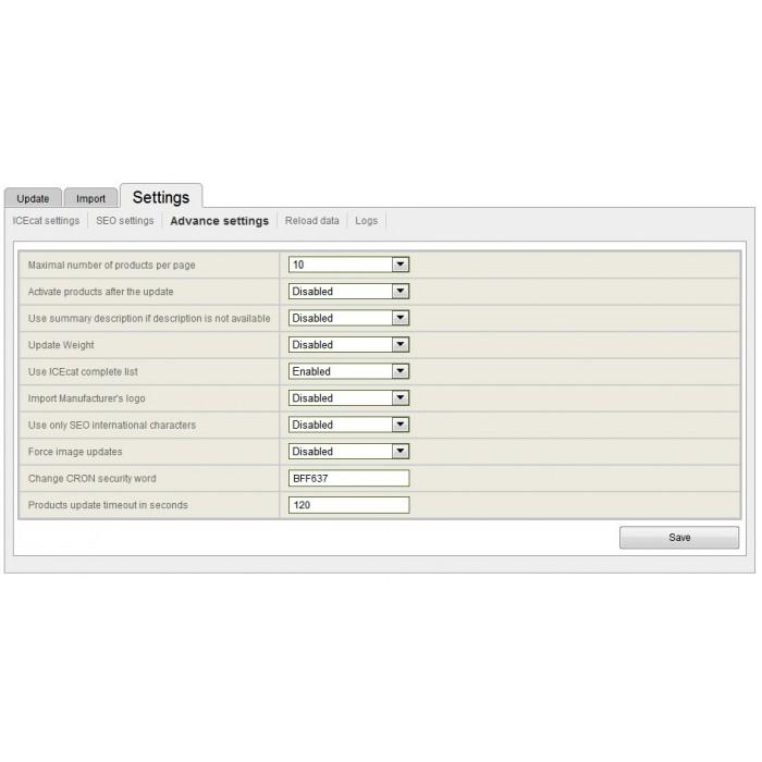 module - Fast & Mass Update - Icecat Integration Solution (WICECAT PRO) - 3