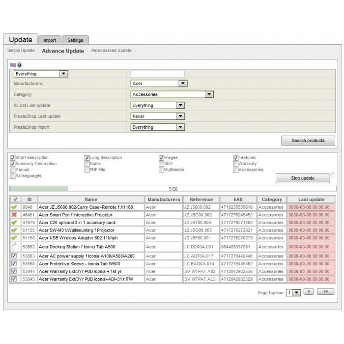 module - Fast & Mass Update - Icecat Integration Solution (WICECAT PRO) - 5