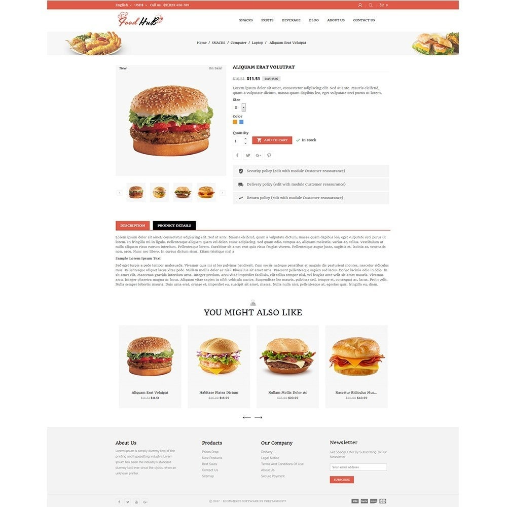 theme - Продовольствие и рестораны - Food hub - 5