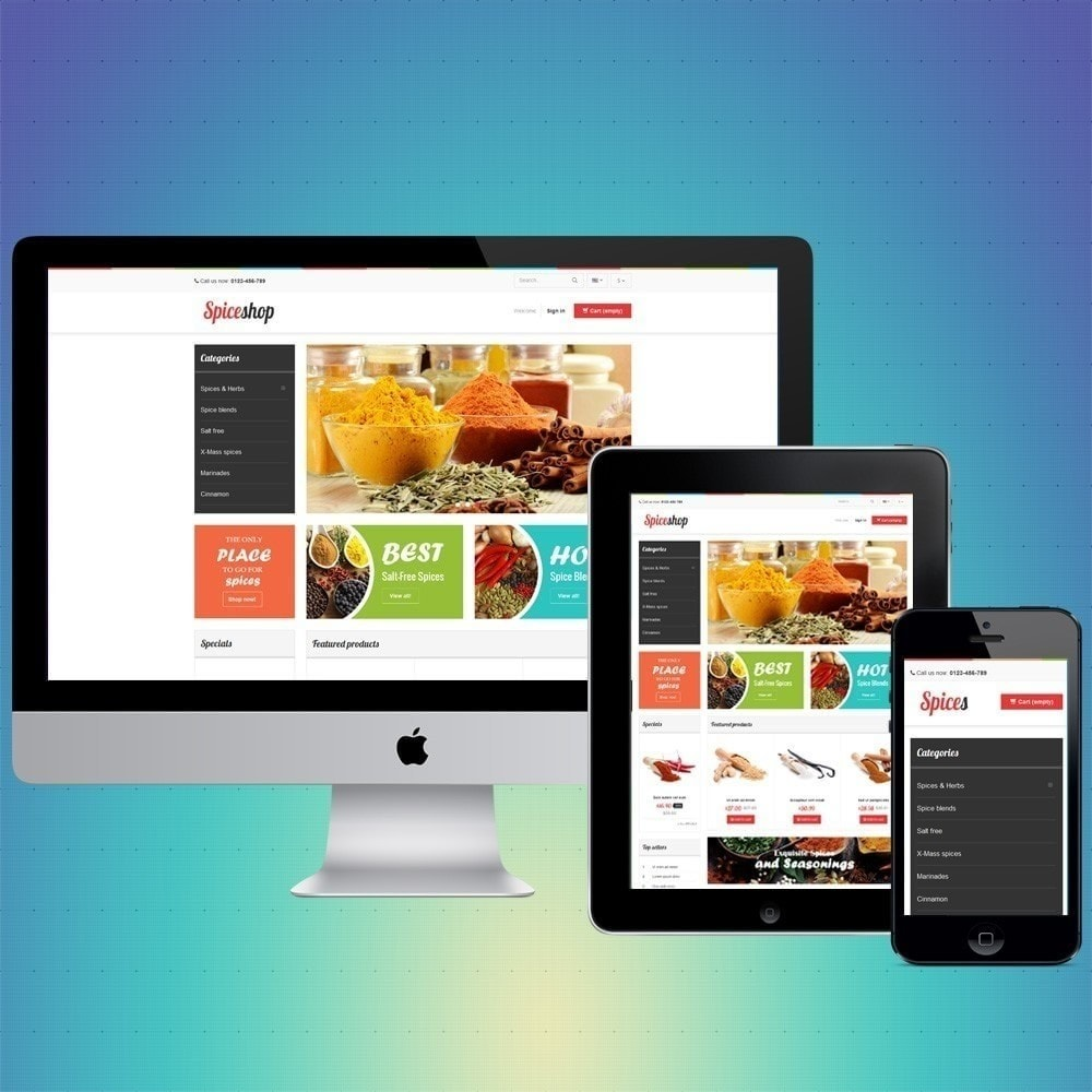 theme - Food & Restaurant - VP_Spices Store - 1