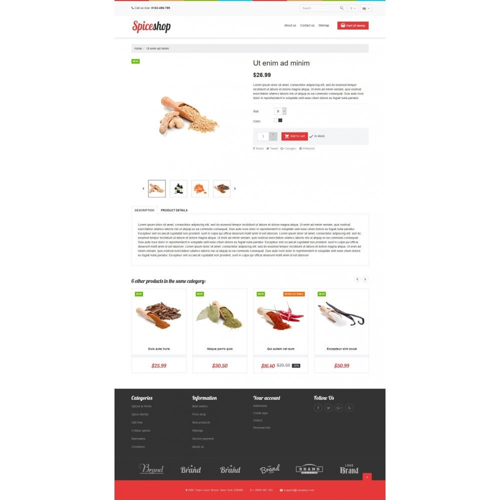 theme - Продовольствие и рестораны - VP_Spices Store - 4