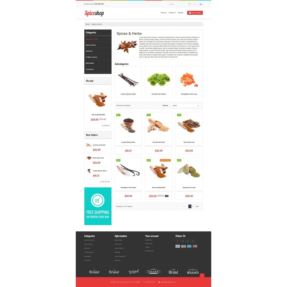 theme - Food & Restaurant - VP_Spices Store - 3