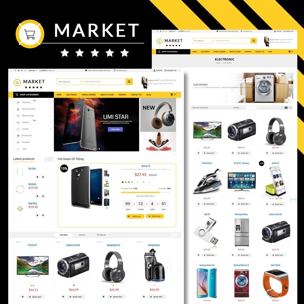theme - Elektronika & High Tech - Omarket Store - 1