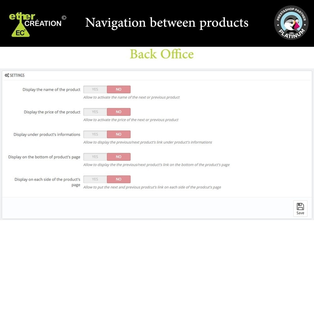 module - Navigation Tools - Next/Previous product on the product page - 1