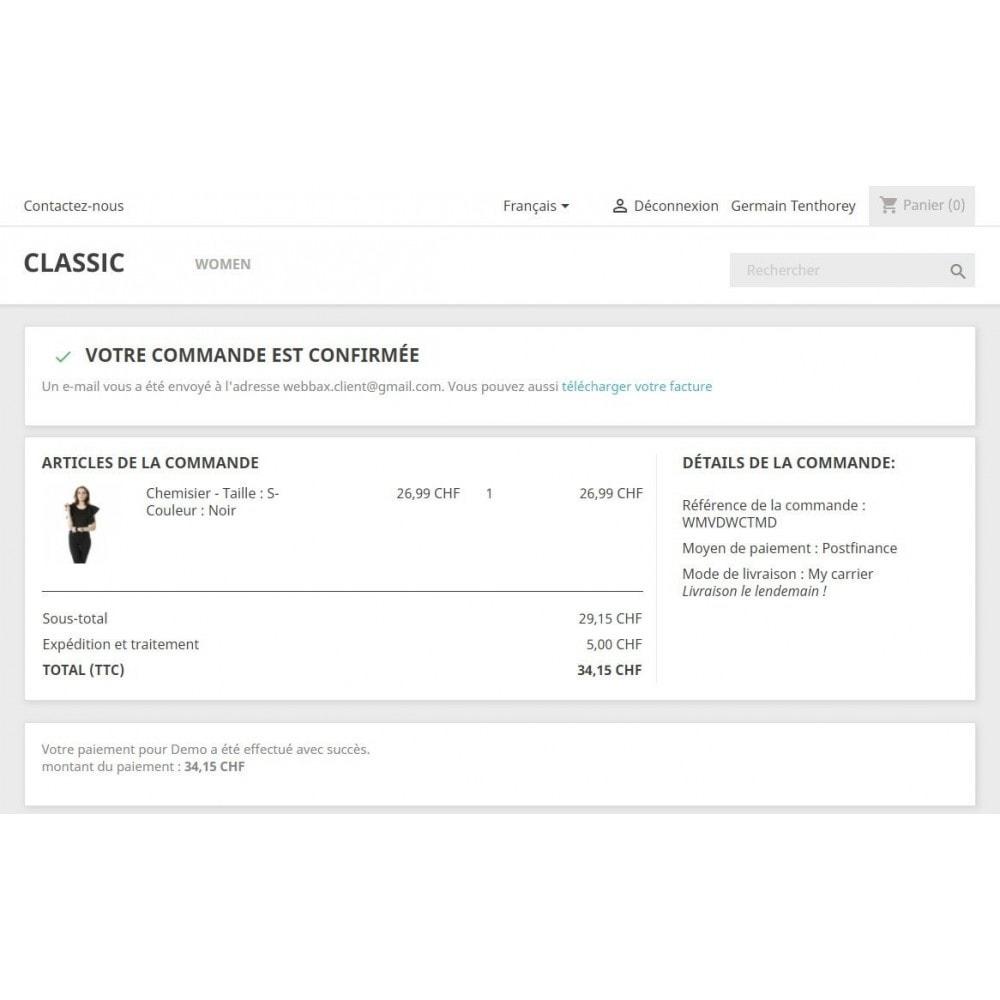 module - Zahlung per Kreditkarte oder Wallet - PostFinance - 5