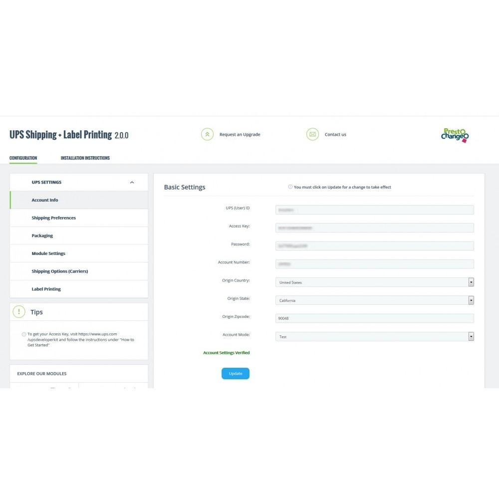 module - Versanddienstleister - UPS Shipping + Label Printing - 2