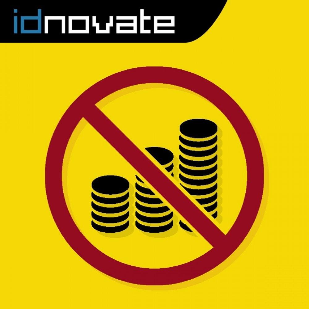 module - Gestión de Precios - Ocultar o mostrar precio y desactivar la compra - 1