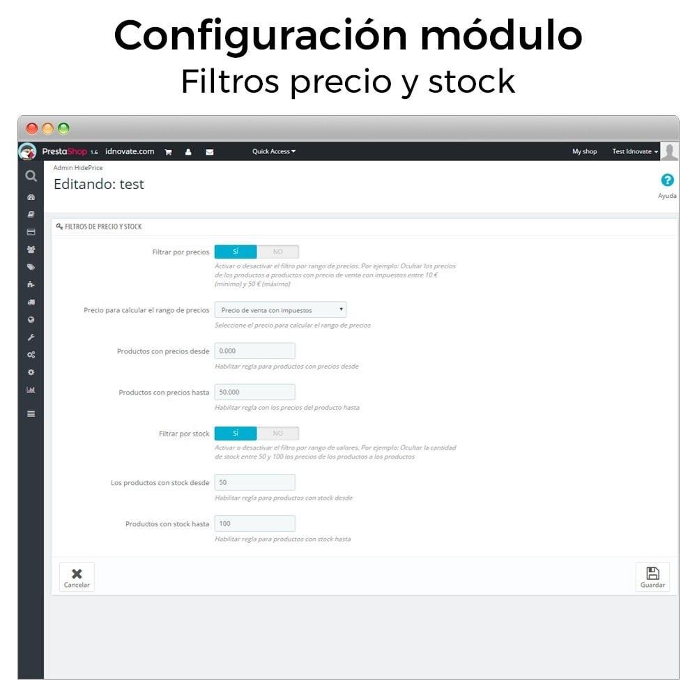 module - Gestión de Precios - Ocultar o mostrar precio y desactivar la compra - 3