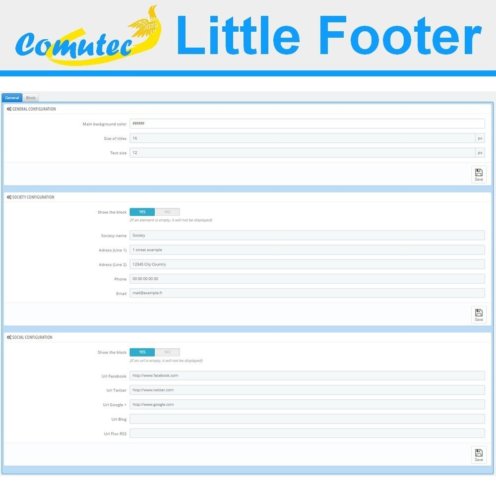 module - Page Customization - Comutec Little Footer - 3