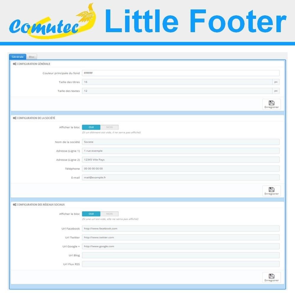 module - Personnalisation de Page - Comutec Little Footer - 3
