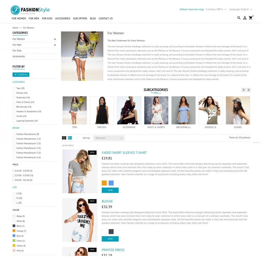 theme - Mode & Chaussures - FashionStyle - 5