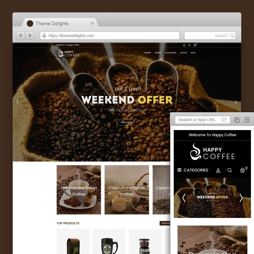 theme - Drink & Wine - Coffee Store - 1
