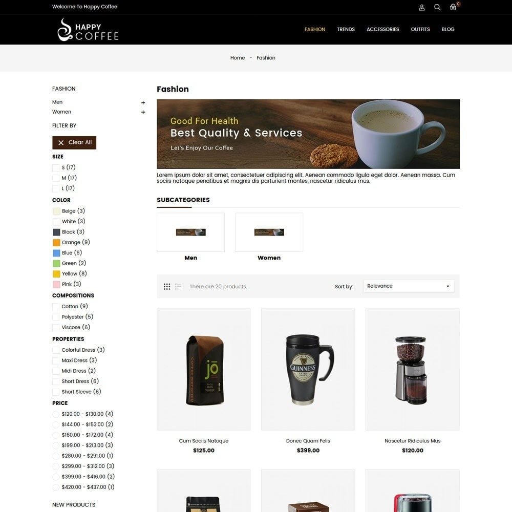 theme - Drink & Wine - Coffee Store - 3