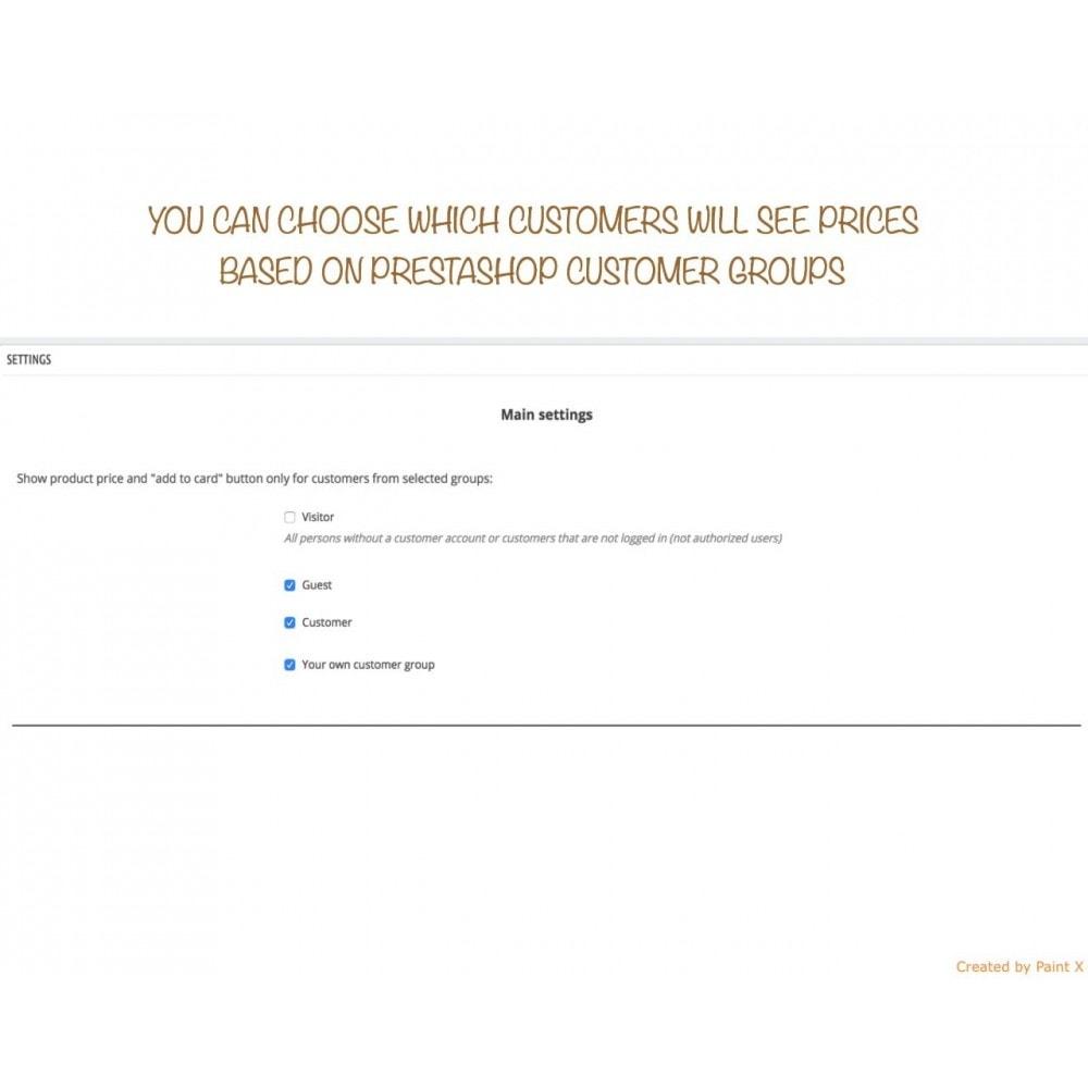 module - Gestion des clients - B2B dissimulation des prix pour clients non autorisés - 2