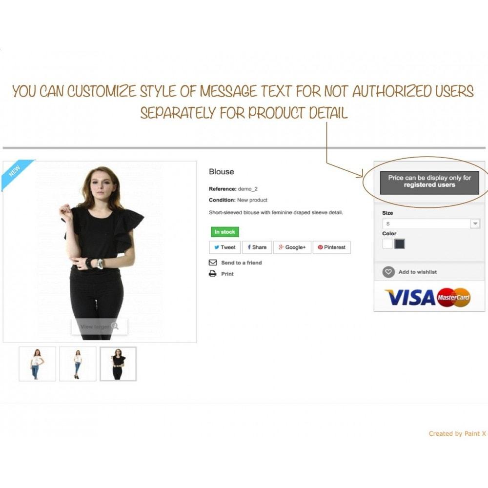 module - Gestion des clients - B2B dissimulation des prix pour clients non autorisés - 3