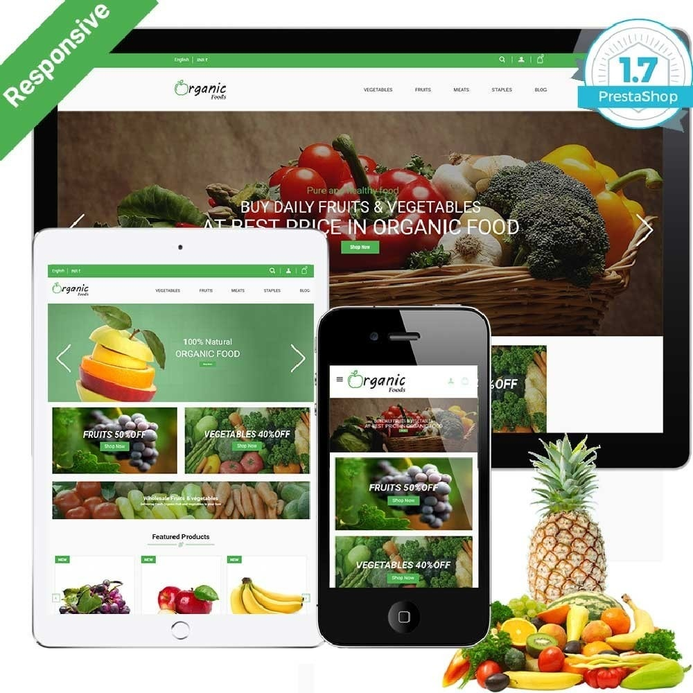 theme - Alimentation & Restauration - Organic Food Store - 1