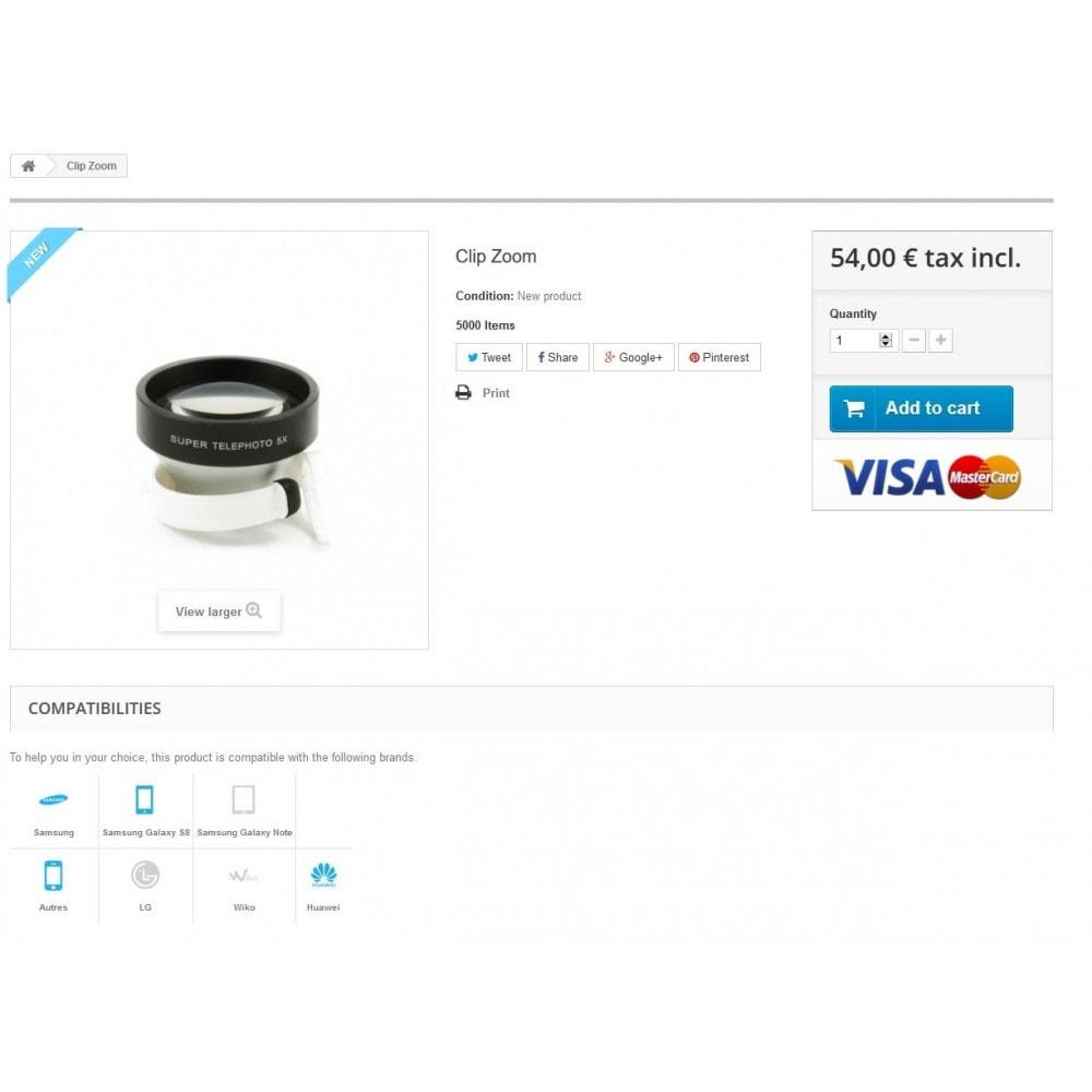 module - Diversificação & Personalização de Produtos - Products Compatibilities - 2