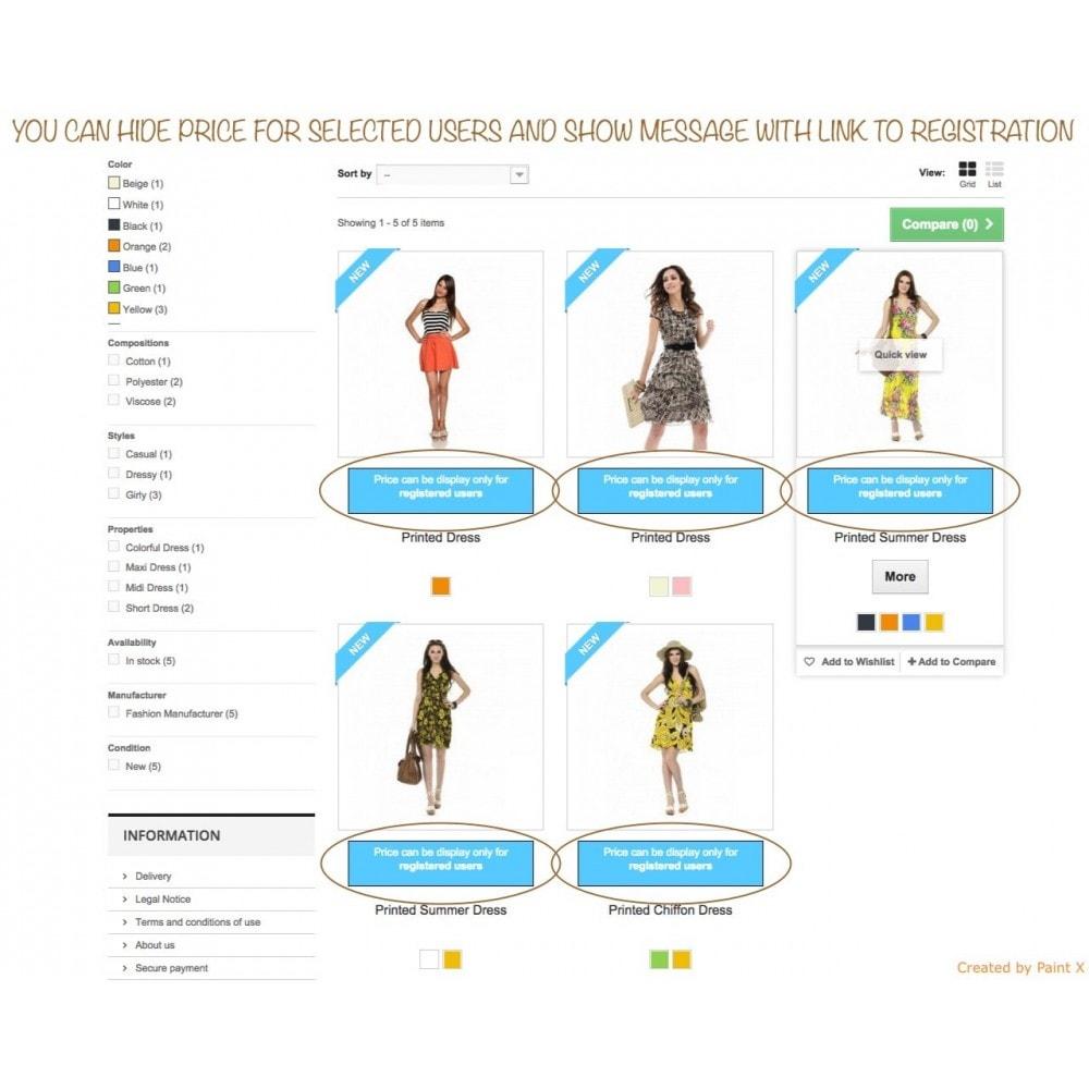 module - Gestión de clientes - B2B Ocultar precios para clientes no autorizados - 1