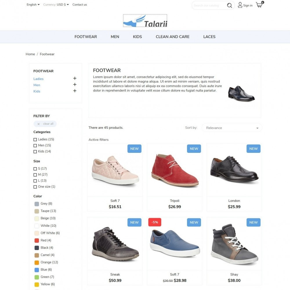 theme - Mode & Chaussures - Talarii Shop - 5