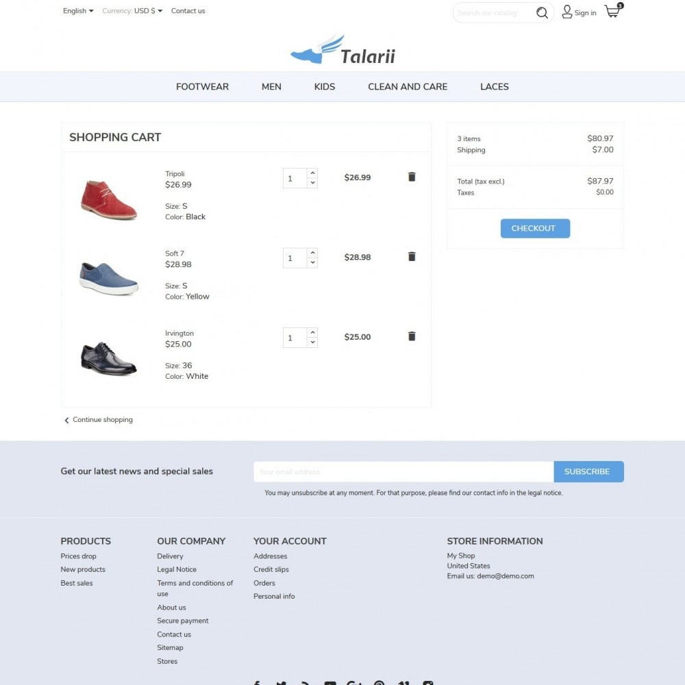 theme - Mode & Chaussures - Talarii Shop - 8