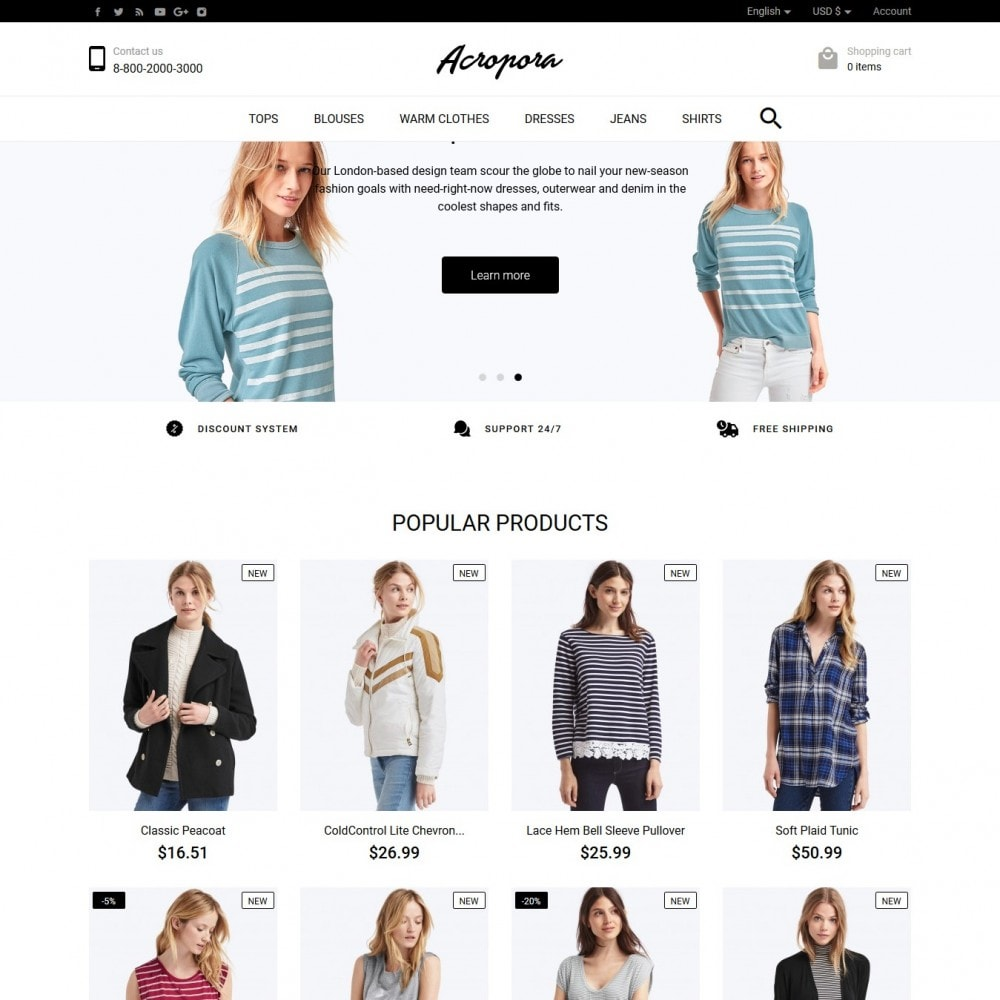 theme - Moda & Calzature - Acropora Fashion Store - 2