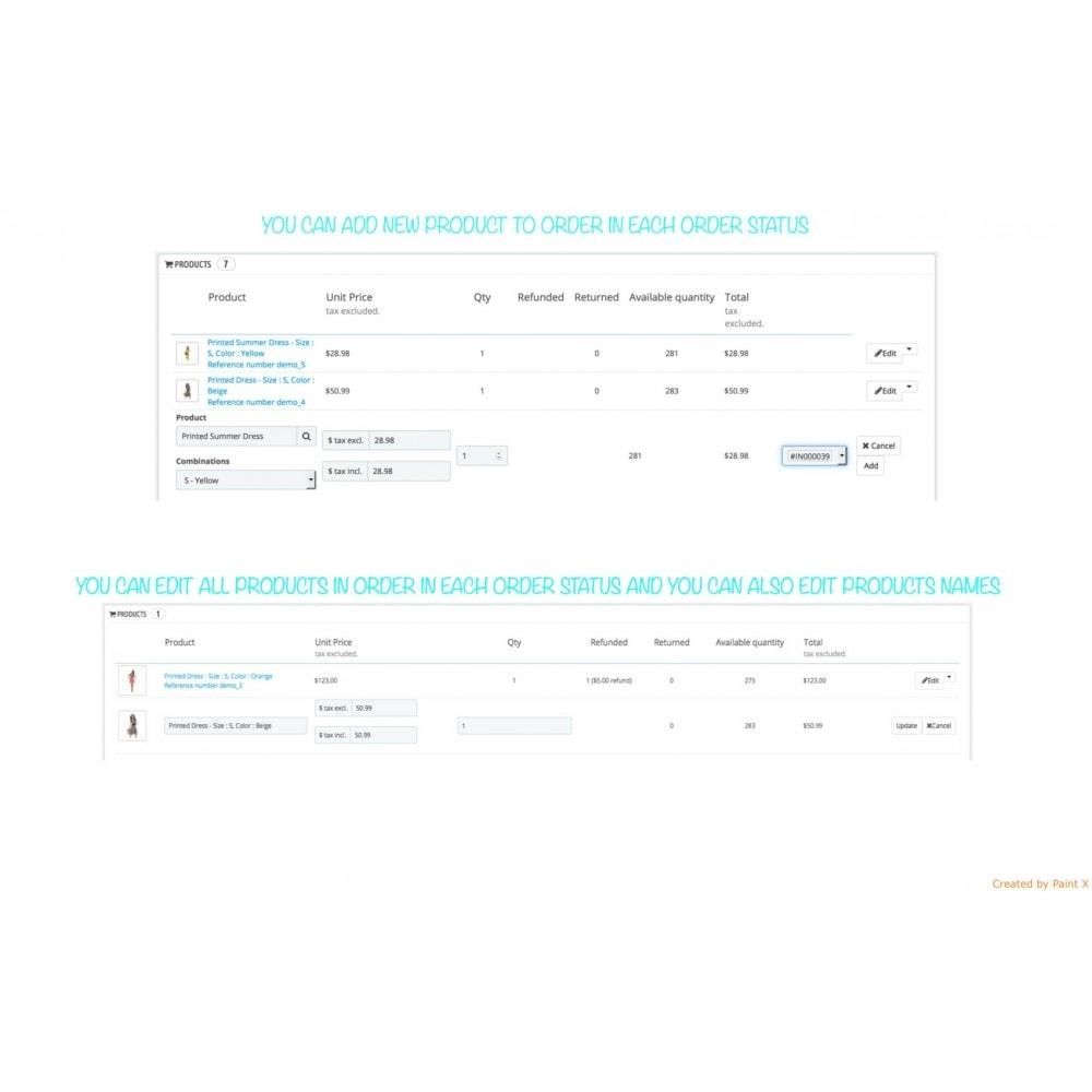 module - Gestión de Pedidos - Gestión de pedidos – modificación de pedidos existentes - 2